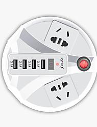 Недорогие -KESGE 200W белый круговой автомобильный инвертор DC12 / 24V-AC220V / 110V с 4 USB и 3,0 быстрой зарядки инвертора