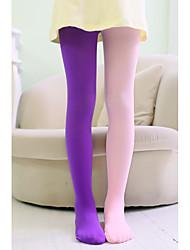 Недорогие -5 комплектов Дети Девочки Милая Однотонный Сексуальные платья Полиэстер Носки и Чулки Желтый / Пурпурный / Тёмно-синий Один размер