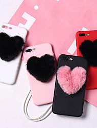 Недорогие -Кейс для Назначение Apple iPhone XS / iPhone XR / iPhone XS Max Защита от удара / Защита от пыли / Защита от влаги Кейс на заднюю панель С сердцем Мягкий ТПУ