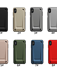 abordables -estuche para apple iphone xr / iphone xs tapa posterior grabada en relieve color sólido pc / tpu dura para iphone x x 8 8plus 7 7plus 6 6s 6plus 6s plus