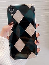 billige -CISIC Etui Til Apple iPhone XR / iPhone XS Max Stødsikker / Støvsikker / Vandafvisende Bagcover Geometrisk mønster Blødt TPU for iPhone XS / iPhone XR / iPhone XS Max