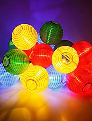 Недорогие -6 м 30 светодиодные солнечные фонари светодиодные фонари строки для партии / рождество / сад / хэллоуин / украшения теплый белый / белый / синий солнечный 12 В 1 шт.