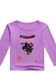 tanie -Dzieci Brzdąc Dla chłopców Podstawowy Nadruk Nadruk Długi rękaw Bawełna Spandeks T-shirt Szary