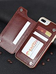 baratos -Slot para cartão multifuncional carteira de couro magnético tampa à prova de choque de proteção integral para iphone x 7/8 7/8 plus