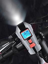 Недорогие -Светодиодная лампа Велосипедные фары Передняя фара для велосипеда Велосипедный рог Велокомпьютер / Велокомпьютер Горные велосипеды Велоспорт Водонепроницаемый Супер яркий Безопасность USB