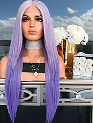 halpa -Aitohiusperuukit verkolla Kinky Straight Tyyli Keskiosa Suojuksettomat Peruukki Ombre Sateenkaari Synteettiset hiukset 26 inch Naisten Naisten Ombre Peruukki Pitkä Luonnollinen peruukki