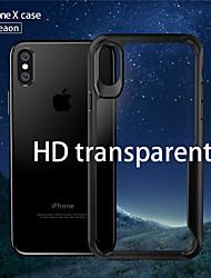 baratos -caso para apple iphone x à prova de choque / poeira tampa traseira tpu duro colorido sólido para iphone x