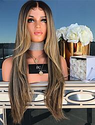halpa -Aitohiusperuukit verkolla Runsaat laineet Tyyli Keskiosa Suojuksettomat Peruukki Kulta Blonde Synteettiset hiukset 26 inch Naisten Naisten Kulta Peruukki Pitkä Luonnollinen peruukki