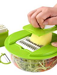 Недорогие -Нержавеющая сталь + пластик Слайсер Главная Кухня инструмент Кухонная утварь Инструменты Необычные гаджеты для кухни 3шт