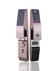 Недорогие -Автоматическая интеллектуальная блокировка отпечатков пальцев замок безопасности дверь бытовой пароль блокировки полупроводниковый сплав цинка красный бронзовый пульт дистанционного управления