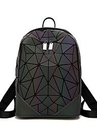 billige -Dame Tasker PVC rygsæk Udhulet Geometrisk mønster Sort