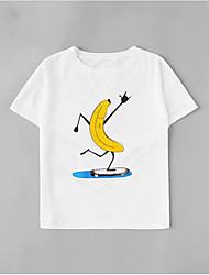 levne -Dámské - Grafika Základní Tričko, Patchwork Bílá US6