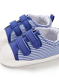ราคาถูก -เด็กผู้ชาย ผ้าใบ รองเท้าผ้าใบ ทารก (0-9m) / เด็กวัยหัดเดิน (9m-4ys) สำหรับการเดินครั้งแรก สีดำ / สีฟ้า ฤดูใบไม้ผลิ / ตก