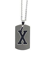ieftine -Bărbați Pentru femei Argintiu X Coliere cu Pandativ Charm Colier Teak Alphabet Shape De Bază Încântător Argintiu 50 cm Coliere Bijuterii 1 buc Pentru Zilnic