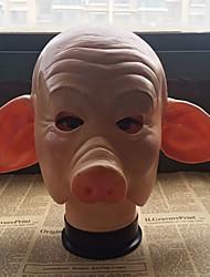 Недорогие -Маски на Хэллоуин Животная маска Игрушки Поросенок Тема ужаса Универсальные 1 Куски