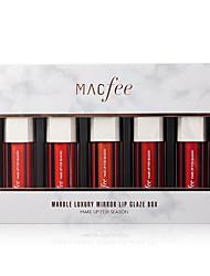 voordelige -5 pcs 5 kleuren Dagelijkse make-up Waterbestendig / Veelkleurig / Lippen Nat / Mat waterbestendig / Effen Zoet / Modieus Bedenken schoonheidsmiddel Verzorgingsbenodigdheden