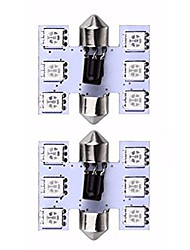 Недорогие -39 мм 6 smd красочный 5050 RGB светодиодные лампы гирлянды лампы освещения салона автомобиля с дистанционным управлением