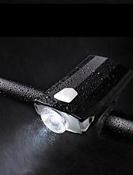 Недорогие -Светодиодная лампа Велосипедные фары Передняя фара для велосипеда Фонарь Горные велосипеды Велоспорт Водонепроницаемый Безопасность Портативные Перезаряжаемая батарея USB 600 lm