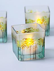 Недорогие -цветная печать стеклянный подсвечник настольное украшение свадебное украшение