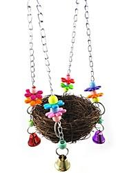 ราคาถูก -นก เกาะคอน&บันได ไม้ / Metal Pet Friendly / โฟกัสของเล่น / ของเล่นผ้า / ผ้า 20 cm