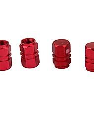 Недорогие -4x Колесные диски для шин Стволы воздушных клапанов Крышка покрышки автомобиля Грузовик красный