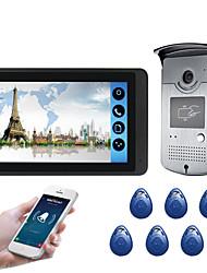 Недорогие -618mjids11 7-дюймовый емкостный сенсорный экран видеокамеры проводной видео дверной звонок Wi-Fi / 3 г / 4 г удаленного вызова разблокировки хранения открытый машина функция карты