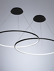 Недорогие -2 шт. / Лот led40w современный круг подвесной светильник окружающего света окрашен для гостиной столовой / теплый белый / белый / с возможностью затемнения с пультом дистанционного управления / Wi-Fi