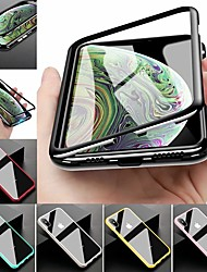 Недорогие -чехол для яблока iphone xr iphone xs max покрытие всего корпуса сплошное цветное закаленное стекло металл для 8 плюс 8 7 плюс 7 xs