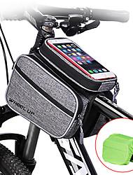 Недорогие -Wheel up Бардачок на раму 6 дюймовый Водонепроницаемость Велоспорт для Велосипедный спорт Темно-серый Горный велосипед Шоссейный велосипед На открытом воздухе
