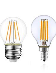 Недорогие -1шт 4 W LED лампы накаливания 380 lm E14 E12 E26 / E27 G45 4 Светодиодные бусины COB Диммируемая Тёплый белый 220-240 V 110-130 V / 1 шт. / RoHs / LVD