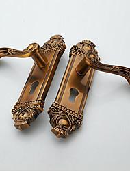 Недорогие -Европейский интерьер дверной замок современное оборудование цинковый сплав твердые деревянные дверные замки спальня ручка замка