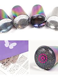 billige -1 pcs Nail DIY Tools Skabelon Meddelelsesserie Bedste kvalitet Negle kunst Manicure Pedicure Farverig Daglig