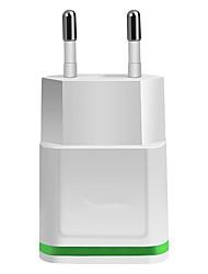 Недорогие -зарядное устройство USB зарядное устройство ес штекер 2 порта usb 2.1 a 100-240 В