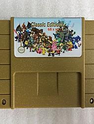 Недорогие -классические игры супер игры 68 в 1 картридж с видеоиграми 25 игр могут сэкономить заряд батареи для всех игроков snes