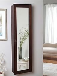 Недорогие -шкаф для хранения ювелирных украшений с эспрессо отделкой под дерево