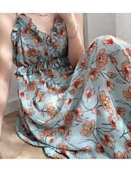 abordables -Mujer Elegante Vaina Vestido - Estampado, Floral Midi