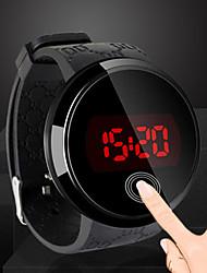 Недорогие -Муж. электронные часы Цифровой силиконовый Черный 30 m Защита от влаги Повседневные часы Cool Цифровой На каждый день Мода - Черный Один год Срок службы батареи