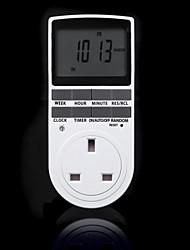 Недорогие -электронный цифровой таймер 24 часа циклический соединительный штекер кухонный таймер программируемая розетка 220 В