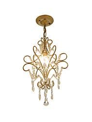 Недорогие -старинная металлическая / хрустальная люстра антикварная железная художественная люстра с подвесным хрустальным потолочным светильником