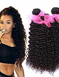 Недорогие -3 Связки Бразильские волосы Kinky Curly Не подвергавшиеся окрашиванию 100% Remy Hair Weave Bundles Головные уборы Человека ткет Волосы Удлинитель 8-28 inch Естественный цвет Ткет человеческих волос