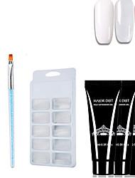 abordables -4 unids / kit conjunto de gel de polietileno transparente barniz uv gel esmalte de uñas kit de arte de construcción rápida para extensiones de uñas gel de gel de gelatina dura