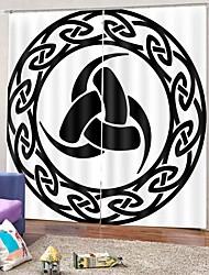 Недорогие -элегантный дизайн высокой четкости несмываемые шторы 3d цифровая печать водонепроницаемые тканевые шторы для гостиной / спальни / офиса