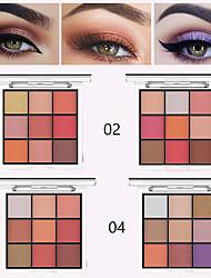 abordables -Durable, impermeable, fácil de usar, nacarado, mate, 9 colores, sombra de ojos mágica