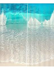 Недорогие -3D-печать высокой четкости волновая карта чистого полиэстера многофункциональный занавес утолщение светозащитный водонепроницаемый занавески для ванной звукоизоляционные пылезащитные занавес