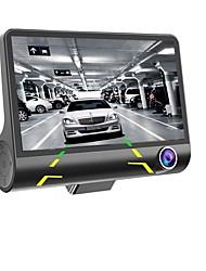 Недорогие -4 '' 1080p 3 объектива автомобильный видеорегистратор видеорегистратор 170 автомобиль видеорегистратор камера заднего вида