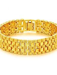 Недорогие -Муж. Браслеты-цепочки и звенья Стильные Креатив Мода Дубай Золото 18K Браслет Ювелирные изделия Золотой Назначение Для вечеринок Повседневные
