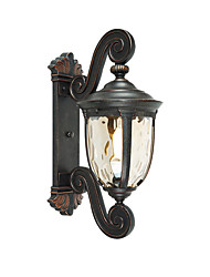 Недорогие -антикварный настенный светильник наружные бра бра стеклянный плафон водонепроницаемый балкон свет настенный светильник старинные настенные светильники для ресторана садовые ворота