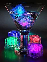 Недорогие -Сделай сам красочная вспышка привела кубики льда свадебный фестиваль декор вечеринка реквизит светящиеся светодиодные светящиеся индукции кубики льда новогодний бар