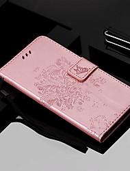 Недорогие -Кейс для Назначение Nokia Nokia 9 PureView / Nokia 7.1 / Nokia 4.2 Кошелек / Бумажник для карт / со стендом Чехол Кот / дерево Твердый Кожа PU