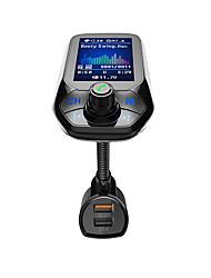 Недорогие -Автомобильный Bluetooth-гарнитура с большим экраном и цветным экраном, автомобильный mp3-плеер, FM-лончер, быстрая зарядка, зарядное устройство 3.0